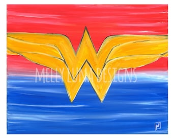 Wonder Woman Inspired Acrylic Painting