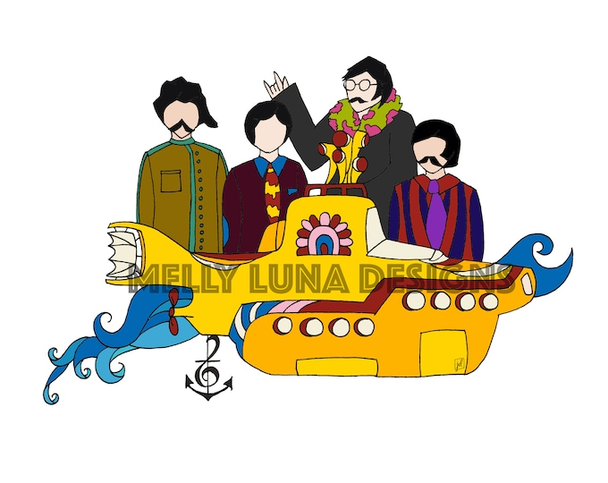 Yellow Submarine Inspired Print, We All Live in a...