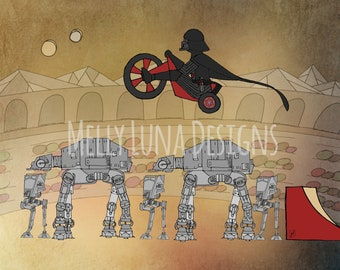 Darth Vader Inspired Print, Big Wheel, Evil Knievel, AT-AT Walkers