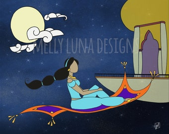 Princess Jasmine Inspired Print, Aladdin