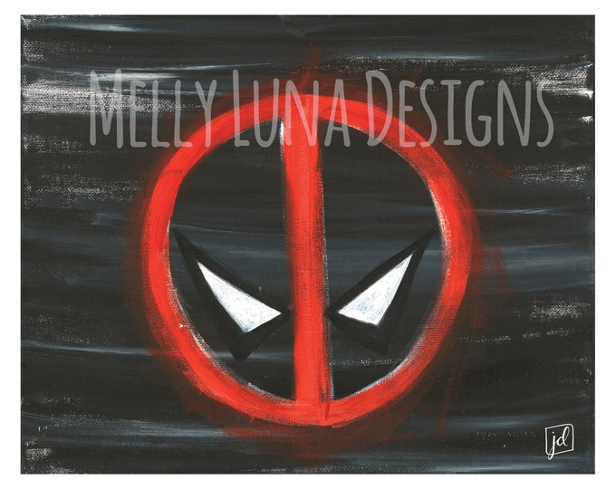 Deadpool Inspired Acrylic Painting