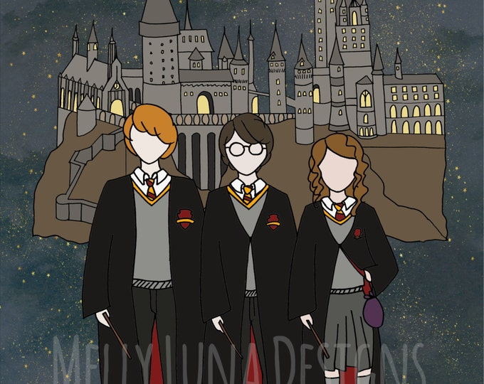 Harry Potter Inspired Print, Squad Goals, Hogwarts, Hermoine