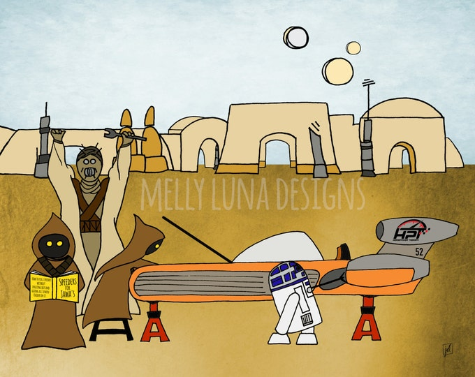 Speeders for Jawa's Star Wars Inspired Print, All Proceeds to Horsepower Therapy