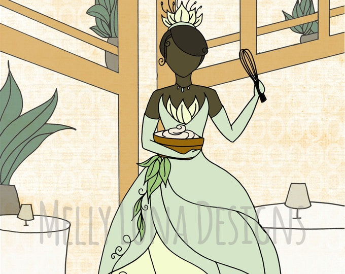 Princess and the Frog Tiana's Place Inspired Print, Princess Tiana