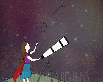 Little Stargazer, Telescope, Superhero