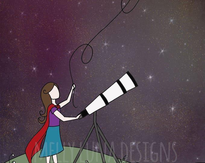 Little Stargazer, Telescope, Superhero