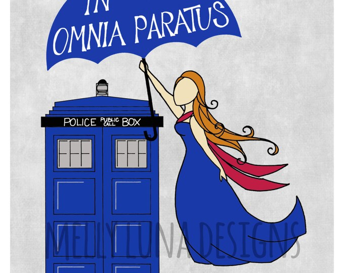 In Omnia Paratus (Ready for Anything) Doctor Who Inspired Print