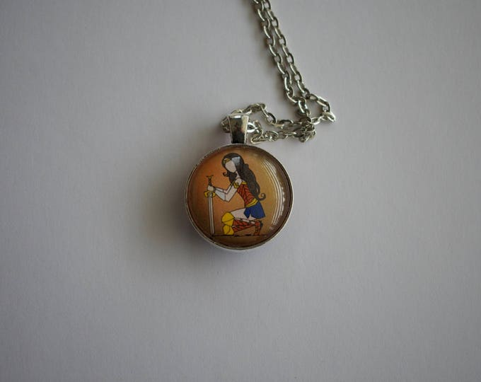 Wonder Woman Tribute, 1-Inch Pendant Necklace, Double Sided!
