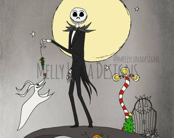 Inspired by the Nightmare Before Christmas, Jack Skellington