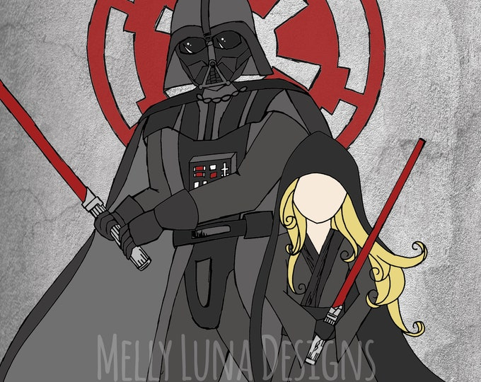 Inspired by Darth Vader and a little blond protege, Sith, Empire