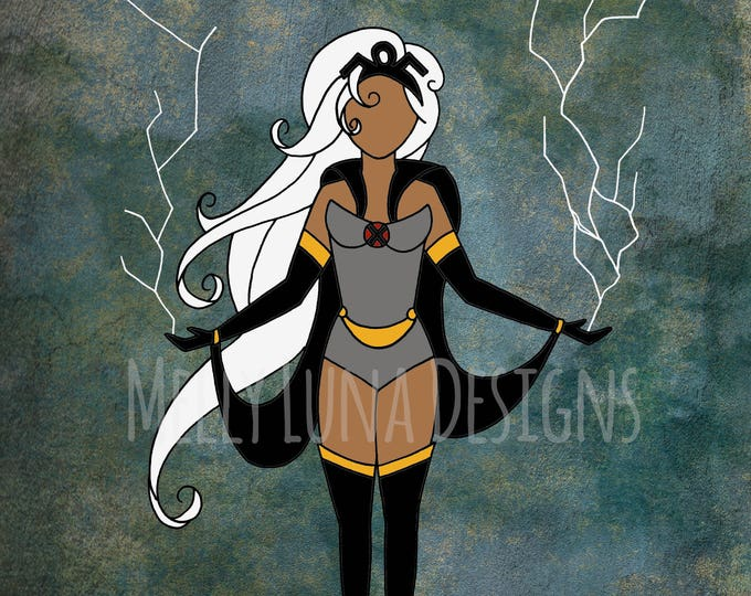 Storm Inspired Print, Marvel, X-Men, Harnessing the Weather to Defeat her Foes