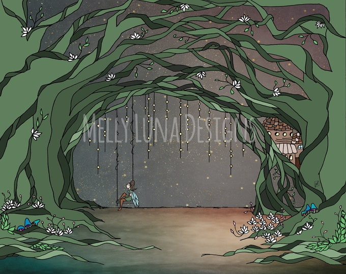 Enchanted Forest, Wood Fairy, Vines, Magical Forest