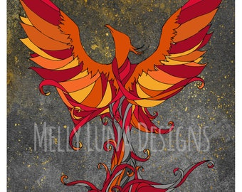 Phoenix Rising from the Ashes, Rebirth, Growth