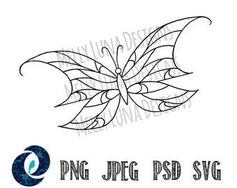Butterfly // Tattoo, Clipart, Graphics