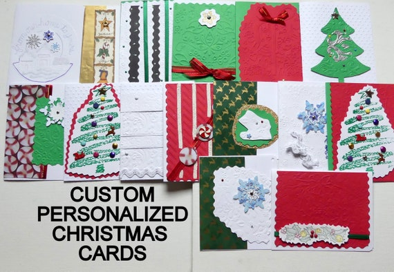 Personalized Christmas Cards.Personalized Christmas Cards Gifts Christmas Note Cards Creative Cards Gifts Handmade Christmas Greeting Cards Holiday Greeting Notes