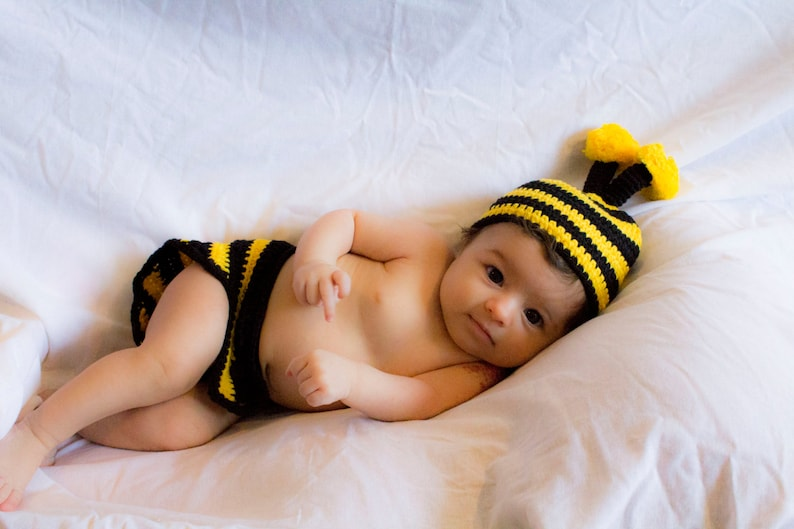 ac851a441 Honey Bee Bumble Bee Baby Crochet Outfit Crochet Set 0-3