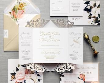 cyprus luxury folding wedding invitations save the date etsy