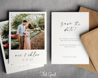 Printed Photo Save the Date / Polaroid Save the date. Save the date with pictures. Personalised and custom.