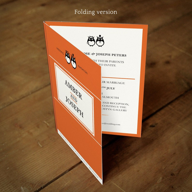 Classic Book Folding Wedding Invitations Ideal For Book Worms Literary Library Book Theme Owls Foxes Penguins Wedding Invites