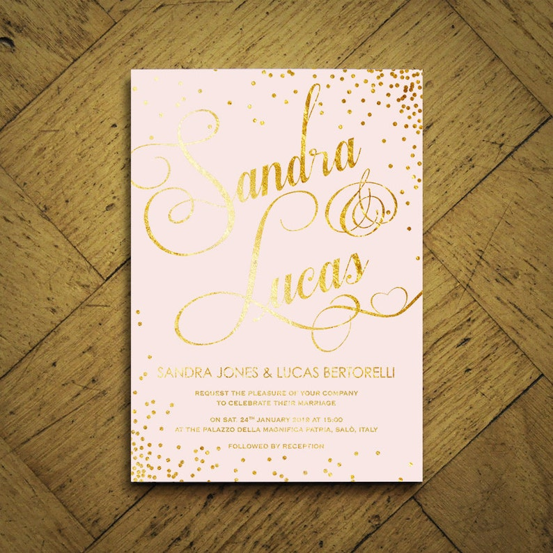 Sparkle Foil Wedding Invitations With Silver Gold Or Rose Gold Foil Wedding Invites Uk Wedding Invitations Australia