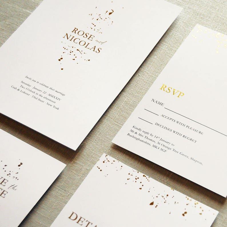 Foil Wedding Invitations.Alchemy Foil Wedding Invitations Set On Luxury Card Silver Gold Or Rose Gold Foil Classy Wedding Invites Uk Australia Usa