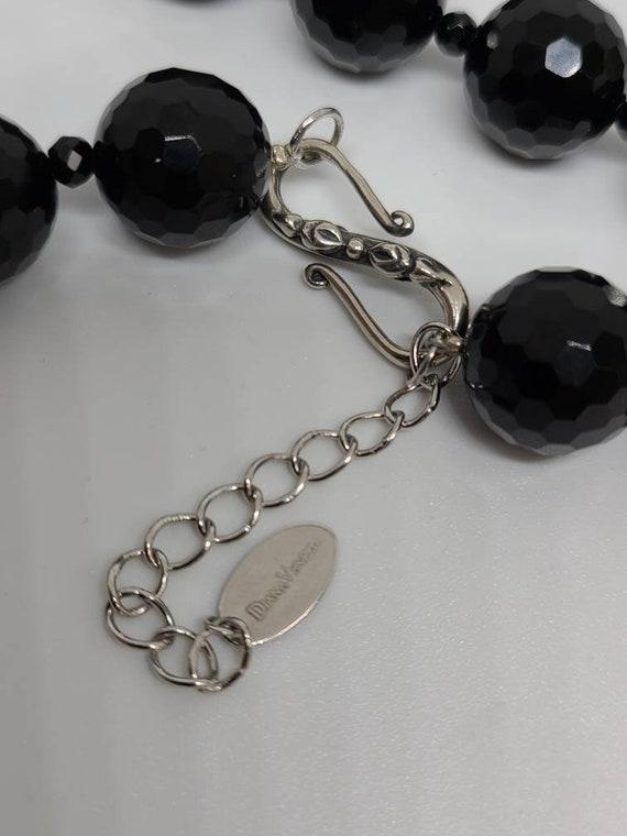 Designer Diana Venezia 925 Silver And Black Cryst… - image 4