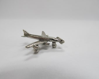 Sterling Silver Airplane Charm W #471