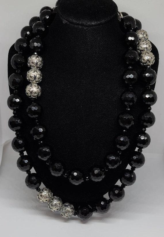 Designer Diana Venezia 925 Silver And Black Cryst… - image 2