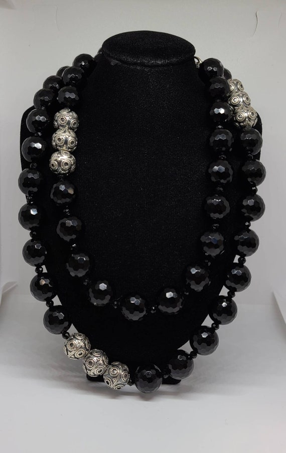 Designer Diana Venezia 925 Silver And Black Cryst… - image 3