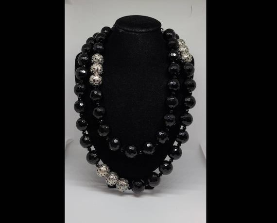 Designer Diana Venezia 925 Silver And Black Cryst… - image 1