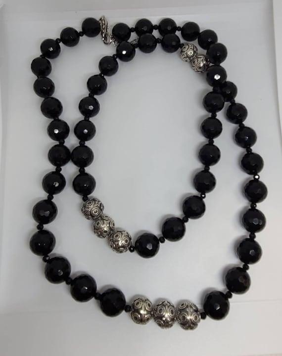 Designer Diana Venezia 925 Silver And Black Cryst… - image 5