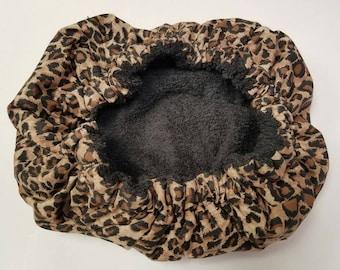 Animal Print Deep Conditioning Cap, Deep Conditioning Bonnet, Thermal Bonnet, Thermal Conditioning Cap