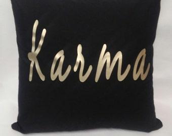 Decorative Pillow, Throw Pillow, Bed Pillow, Cushion Cover, Graphic Pillow, Custom Pillow, Karma Pillow