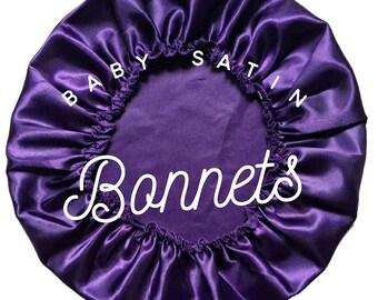 Baby Satin Bonnet, Baby Bonnet, Satin Lined Sleep Cap, 0-12 months