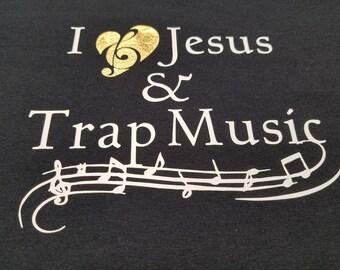 I Love Jesus and Trap Music Hoodie, Graphic Tee, Black Girls Rock, Black Girl Magic