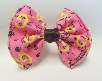 Pink GG Hair Bow