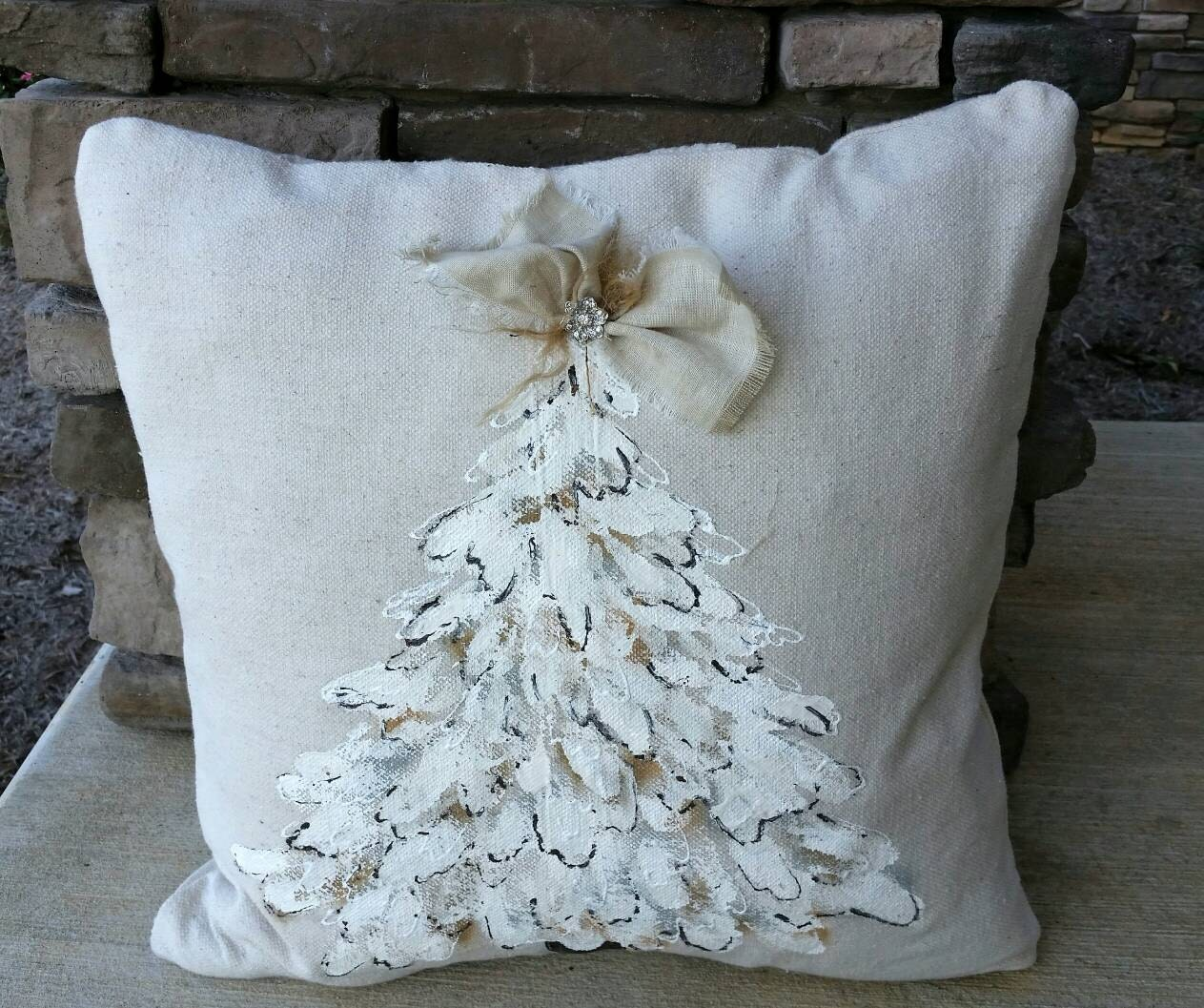 nursery home decor White Hand painted Pillow cover with small key and padlock by artist customized paint color cushion Farmhouse Cottage