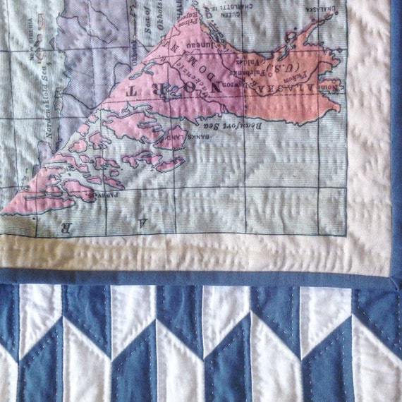 Map of the World Baby Quilt