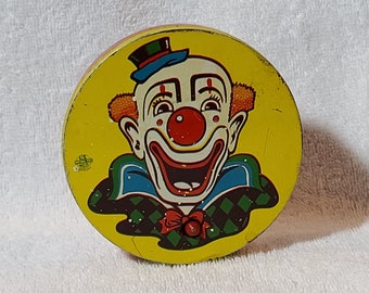 Vintage ClownCircus Spinner Noisemaker Toy
