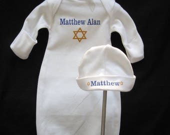 1ffdbb6e32d3 Personalized Bris Gown and Hat