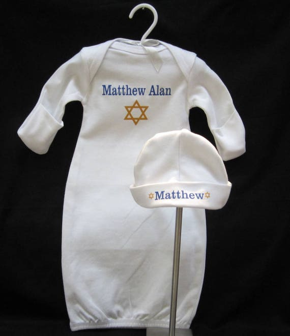 Personalized Bris Gown and Hat   Etsy