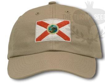 Florida State Flag Baseball Cap - Outline State Design 7707adb0d0e1