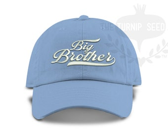 1c76ba0d TODDLER Big Brother Unstructured Baseball Cap - Custom Color Hat and  Embroidery.