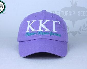f9e2f2ee2dd Kappa Kappa Gamma Sorority Baseball Cap - Custom Color Hat and Embroidery.