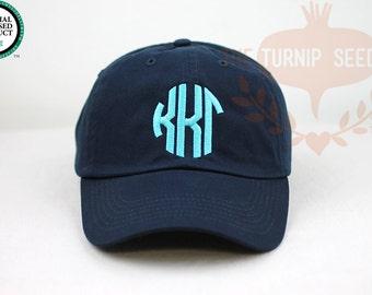 7ee93d01cdd Kappa Kappa Gamma Circle Design Baseball Cap - Custom Color Hat and  Embroidery.