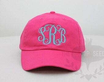 94fcaef2c Ladies' Monogram Baseball Cap Custom Color Hat and   Etsy