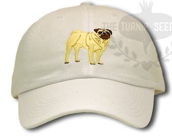 71b39c96fe8 Pug Dog Baseball Cap - Custom Color Hat
