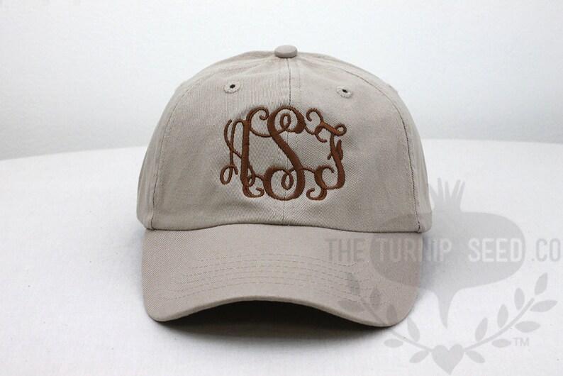 13b4b0975994d Ladies  Monogram Baseball Cap Custom Color Hat and
