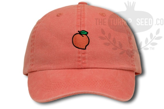 Georgia Peach Baseball Cap Custom Color Hat Etsy