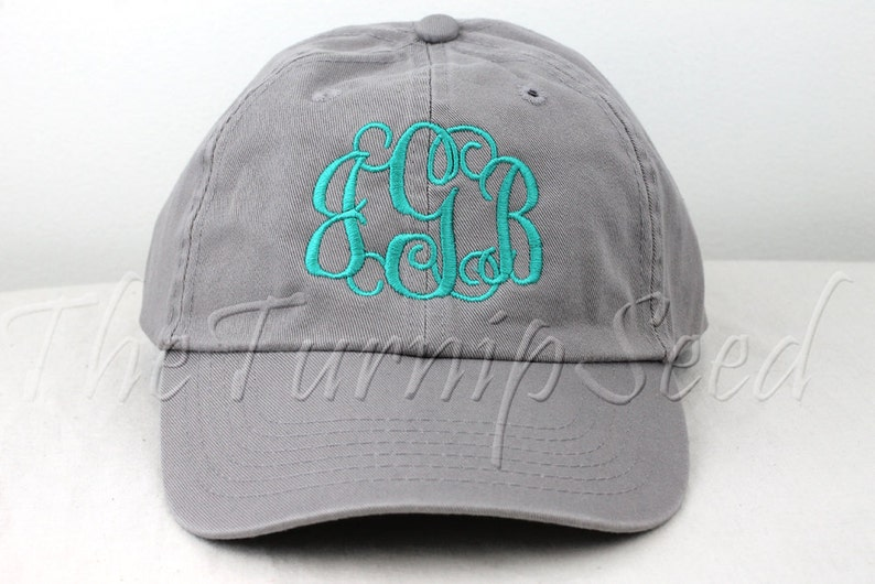 Ladies  Monogram Baseball Cap Custom Color Hat and  53a7c5576b8a